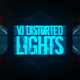VJ Distorted Lights (4K Set 9)