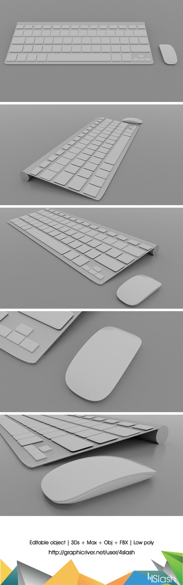 Mac keyboard & Mouse - 3DOcean Item for Sale