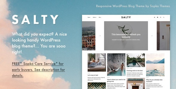 Salty – Responsive WordPress Blog Theme