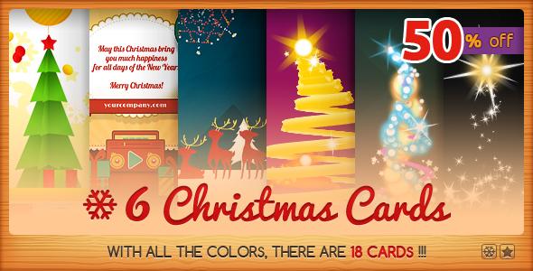 Six Christmas Cards Bundle 2 - CodeCanyon Item for Sale