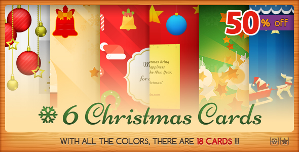 Six Christmas Cards Bundle - CodeCanyon Item for Sale