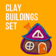 Clay Buildings Set - VideoHive Item for Sale