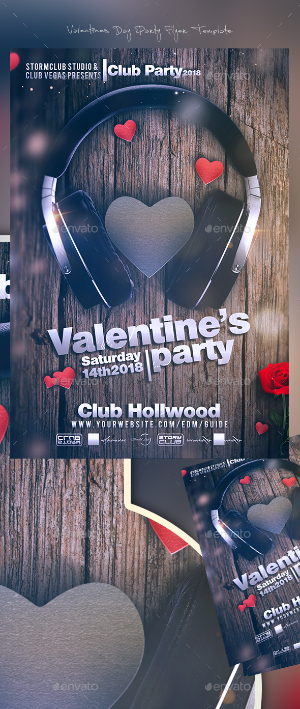 Valentines Day Party Flyer Template - Events Flyers