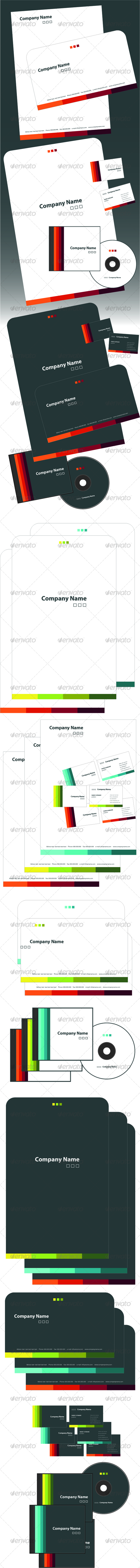 GRADIENT stationery preview - Stationery Print Templates
