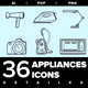 Appliances Icon set - GraphicRiver Item for Sale