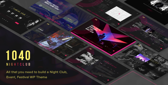 1040 Night Club - DJ, Party, Music Club WordPress Theme - Nightlife Entertainment