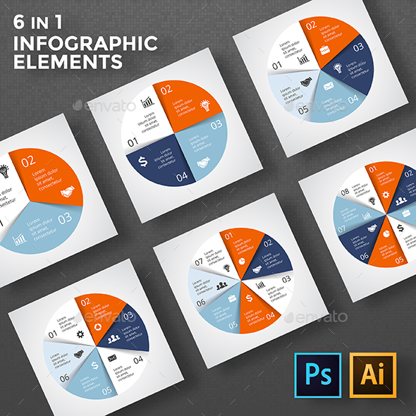 Circle diagrams infographic psd eps ai by graphicseamus circle diagrams infographic psd eps ai infographics ccuart Images