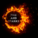 Circle Fire and Sparks - VideoHive Item for Sale