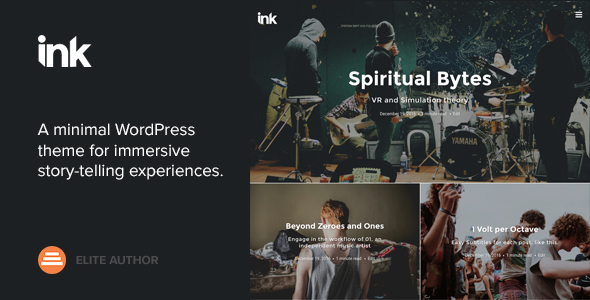 Ink — A WordPress Blogging theme to tell Stories - Blog / Magazine WordPress