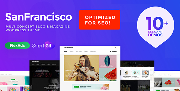SanFrancisco - MultiConcept Blog & Magazine WordPress Theme - News / Editorial Blog / Magazine