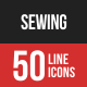 Sewing Line Filled Icons