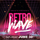 Retro Wave Flyer Template - GraphicRiver Item for Sale
