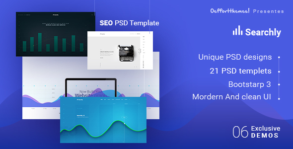 Searchly| Multipage Seo Psd Template - Hosting Technology