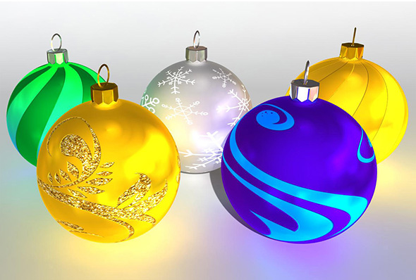 Christmas Ball Pack Vol 2 - 3DOcean Item for Sale