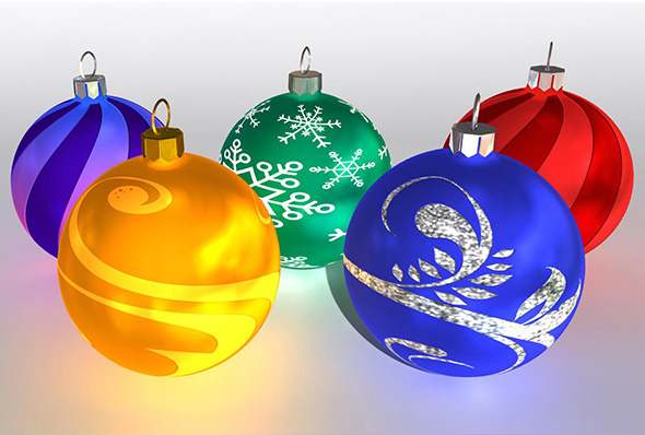 Christmas Ball Pack Vol 3 - 3DOcean Item for Sale