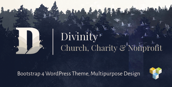 Divinity – Church, Nonprofit, Charity Events & Donations Bootstrap 4 WordPress Theme