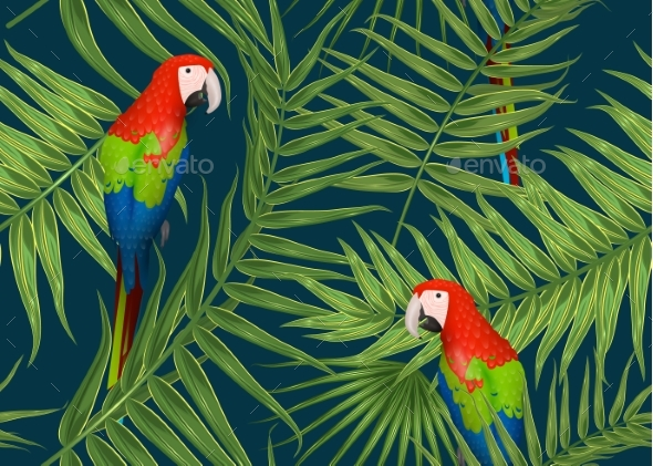 Seamless Tropical Pattern Exotic Background - Backgrounds Decorative