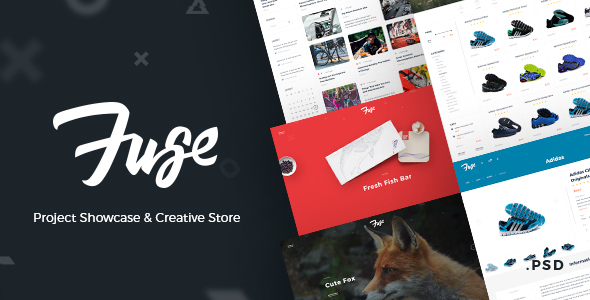 Fuse – Project Showcase & Creative Store - Portfolio Creative