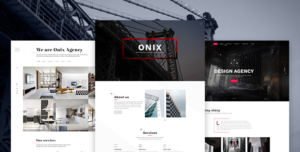 Onix – Multi Purpose Architecture / Interior / Portfolio PSD Template