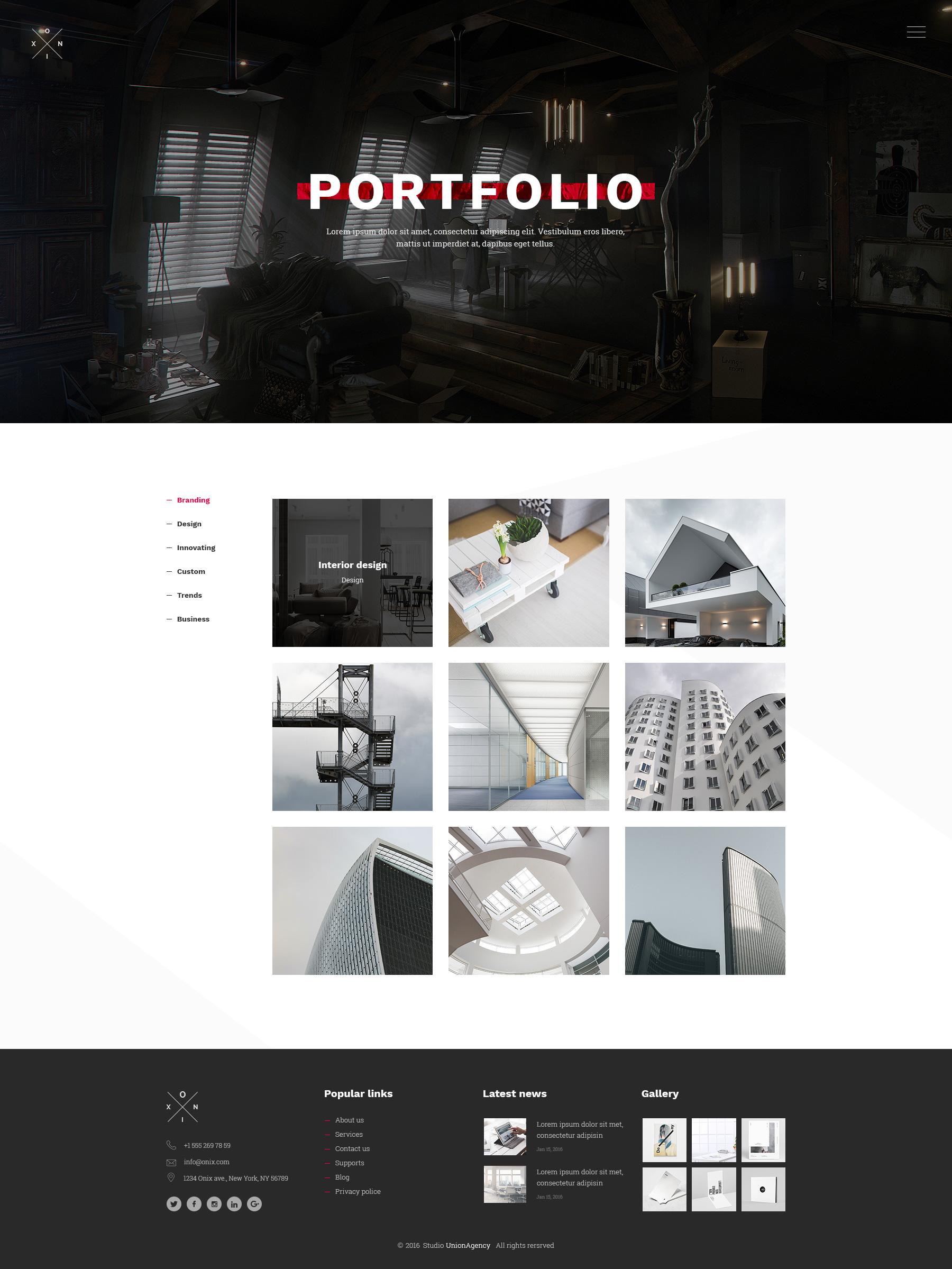 Interior Design Portfolio Template Psd Free Download