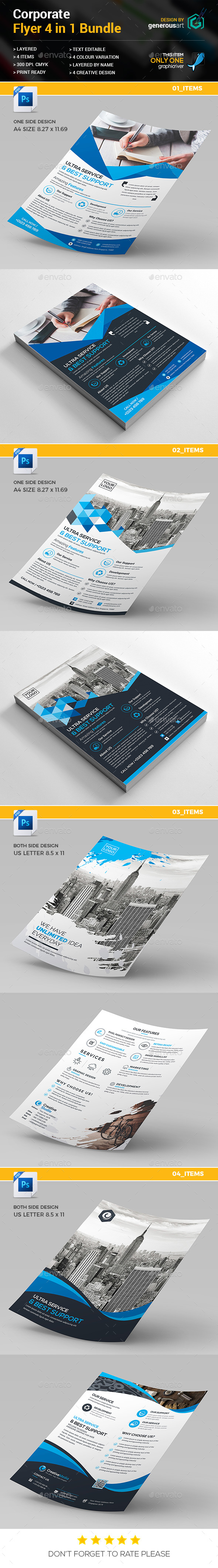 Flyer Bundle 4 in 1 - Corporate Flyers