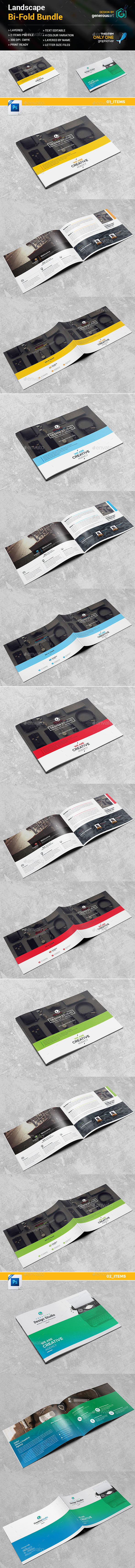 Landscape Bi-Fold Brochure 2 in 1 - Corporate Brochures