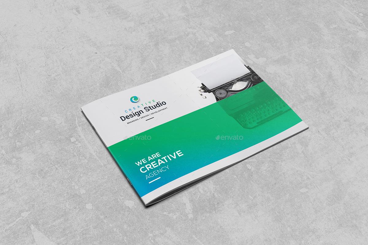 Landscape Bi-Fold Brochure 2 in 1 by generousart | GraphicRiver