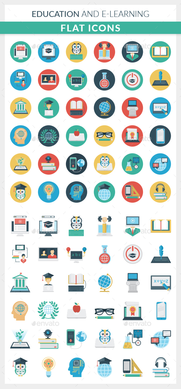 Education and E-learning Icons - Web Icons