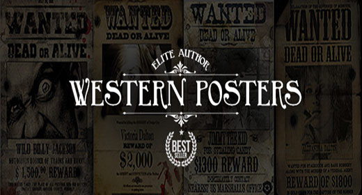 Old, Western, Wild West Wanted Posters