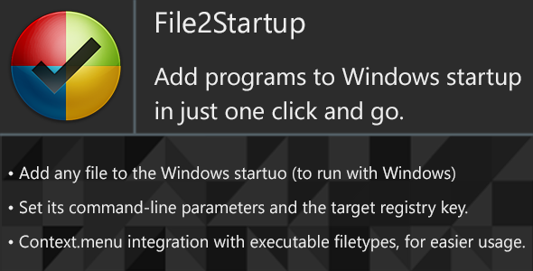 File2Startup - Add any program to Windows startup easy - CodeCanyon Item for Sale