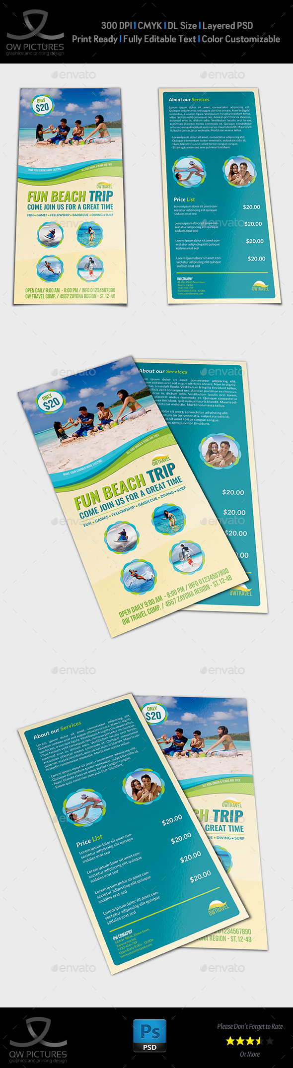 Tour And Travel DL Size Flyer Template By OWPictures GraphicRiver - Dl size flyer template