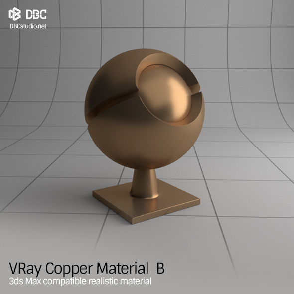 3ds Max V-Ray (Ver 3.4) Copper Material B - 3DOcean Item for Sale