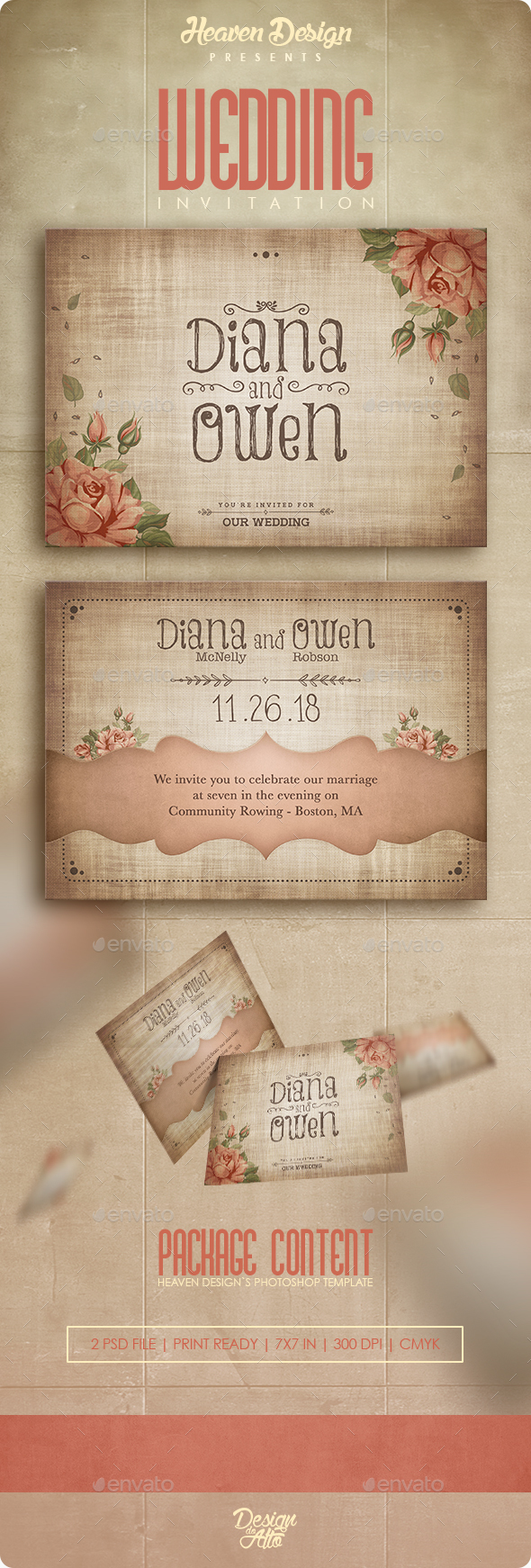 Wedding Roses | Invitation