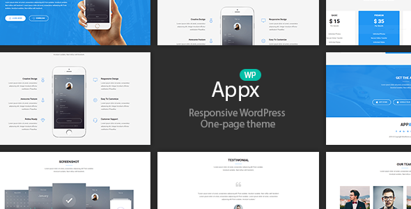 Appx - Responsive WordPress App Introduction Page Theme