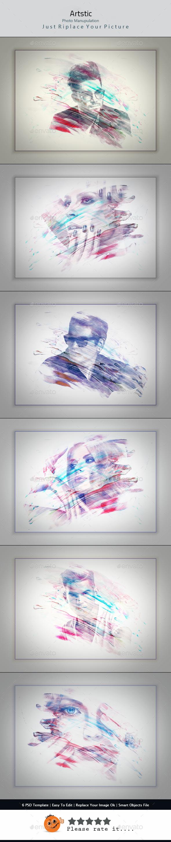 Artstic Photo Manipulation - Photo Templates Graphics