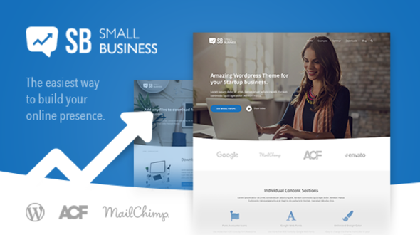 Small Business CD – A modern Blog & Website WordPress Theme for Start Up ideas