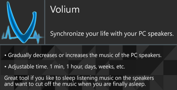 Volium - Synchronize your life with your PC speakers - CodeCanyon Item for Sale