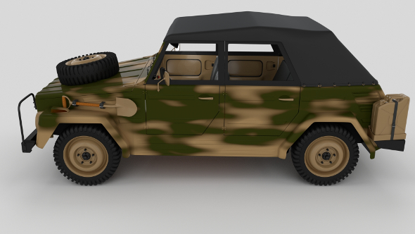 VW Type 181 Army with interior top up - 3DOcean Item for Sale