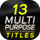 13 Multipurpose Titles - VideoHive Item for Sale