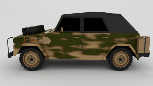 VW Type 181 Army - 3DOcean Item for Sale