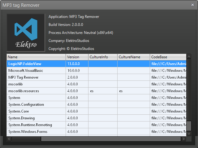MP3 Tag Remover - Clean your MP3 files from useless metadata
