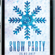 Snow Party Flyer Poster Template - GraphicRiver Item for Sale