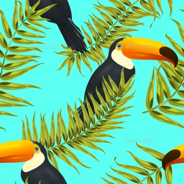 Seamless Tropical Pattern - Backgrounds Decorative