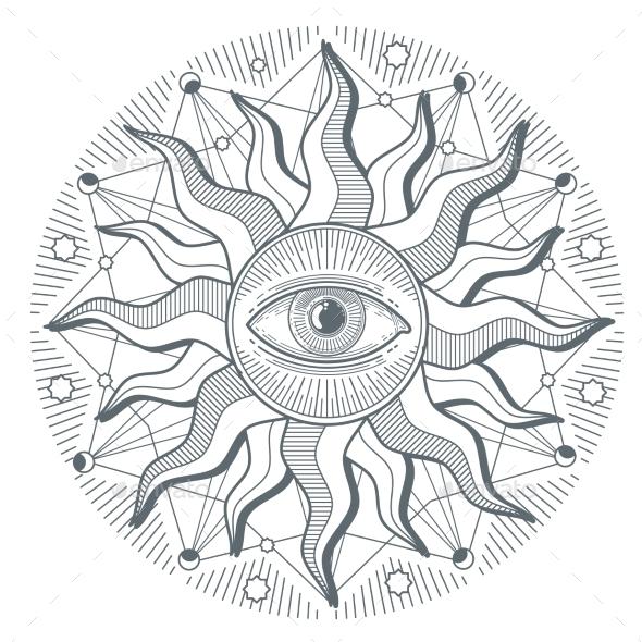 All Seeing Eye Illuminati New World Order - Decorative Symbols Decorative