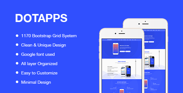 Dotapps – App Landing Page Template