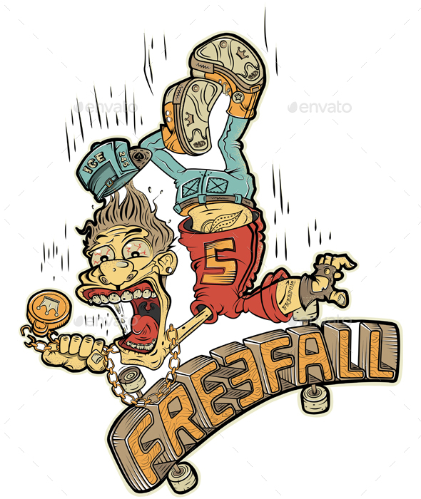 Freefall Skater - Sports/Activity Conceptual
