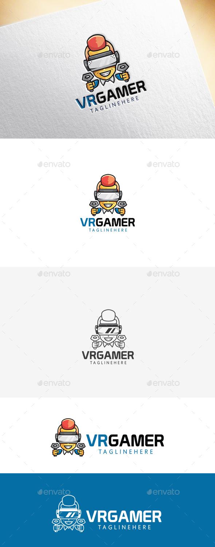 VR Gamer Logo Template - Humans Logo Templates