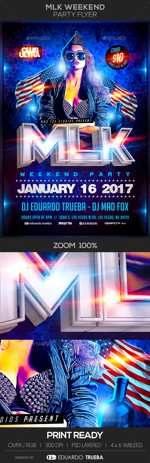 MLK Weekend Party Flyer - Events Flyers