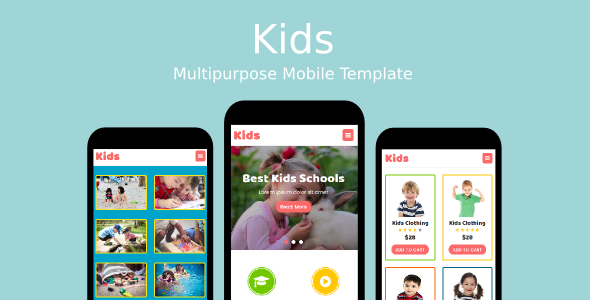 Kids – Multipurpose Mobile Template