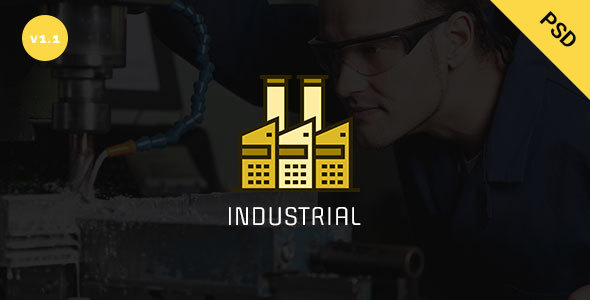 Industrial - Industry  & Business PSD  Template - Business Corporate